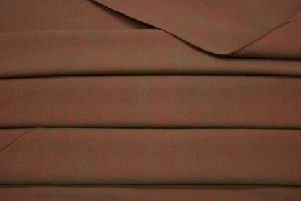 MARS RED AND BLUE DOUBLE TONE HANDWOVEN COTTON FABRIC-HF2039