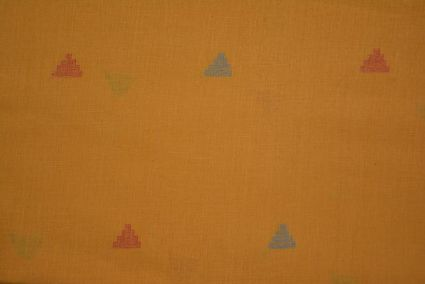Honey Gold Jamdani Cotton Fabric Online