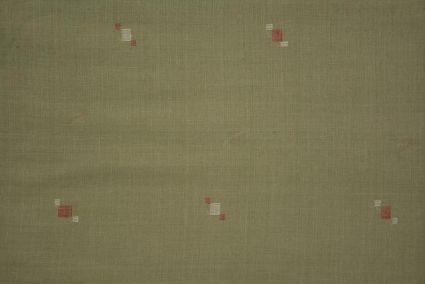 Seagrass Green Jamdani Cotton Fabric Online