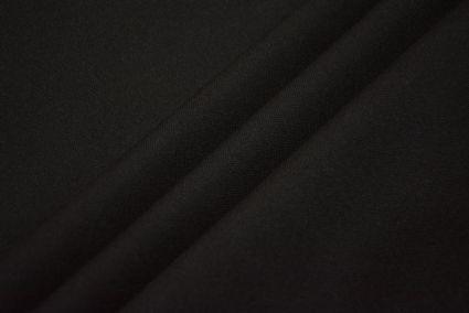 Jet Black Wool Fabric