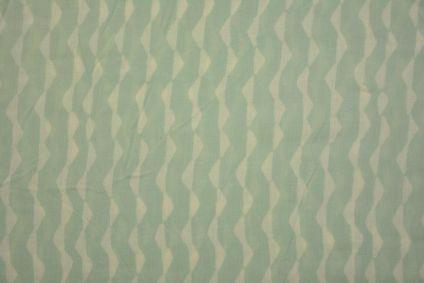 Spray Green Block Print Modal Fabric