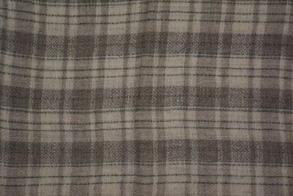 Natural Color Checks Cashmere Wool Stole