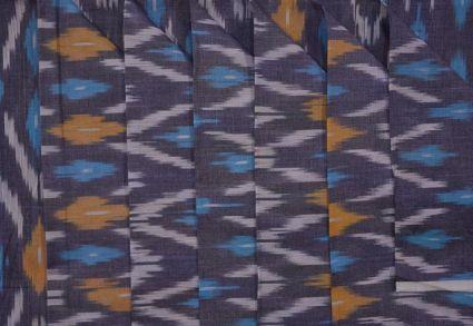 GRANITE GREY FINE IKAT FABRIC-NVHF2096