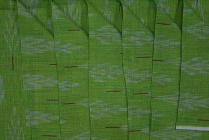 GREEN FINE IKAT FABRIC ONLINE-NVHF2102