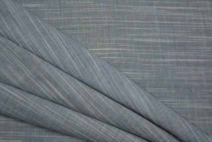 GREY AND WHITE DOUBLE TONE HANDWOVEN COTTON FABRIC-HF2125