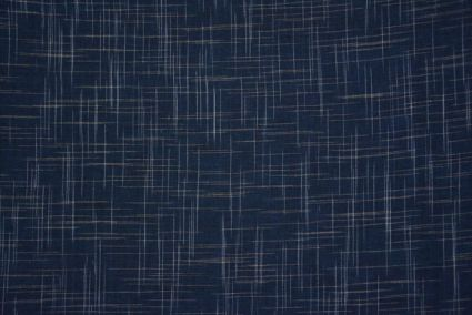 Blue And White Handwoven Cotton Fabric