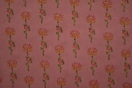 Flamingo Pink Floral Print Rayon Fabric