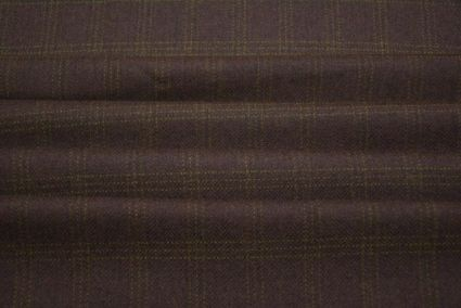 CARAFE BROWN CHECKS TWEED WOOL FABRIC - HF2189S