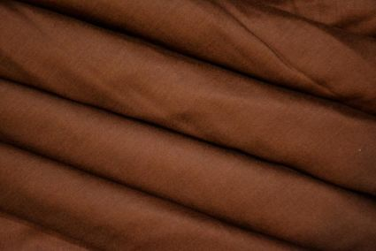 SOLID BROWN FINE RAYON FABRIC BY METER-RF2