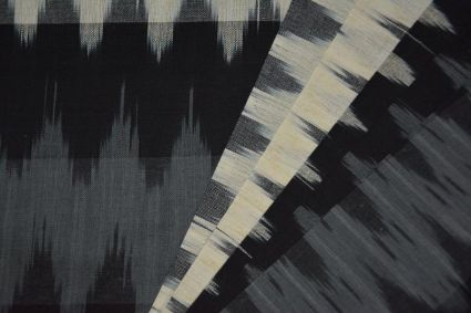 TRICOLOR IKAT FABRIC BY THE YARD-HF4369