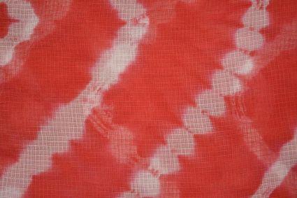 Red Batik Kota Doria Fabric