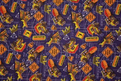 Blue Pictorial Digital Print Crepe Fabric