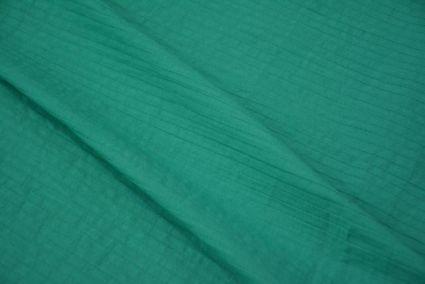 Solid Green Pintucks Fabric