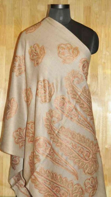 EARTHY BROWN PAISLEY SCARF-PS185