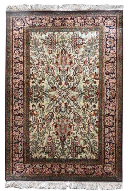 FLORAL DESIGN PERSIAN SILK RUGS FROM INDIA