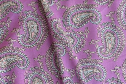 Pink And Purple  Polyester Satin Fabric
