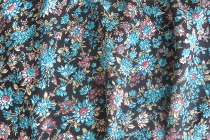 BLUE FLORAL POLYESTER FABRIC-PS27