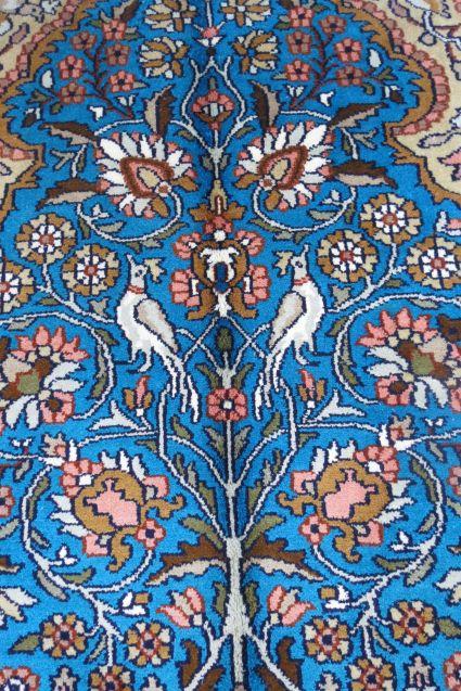 Mughal Garden Kashmir Pure Silk Carpet