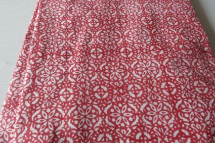 PINK AND WHITE FLORAL BLOCK PRINT FABRICS