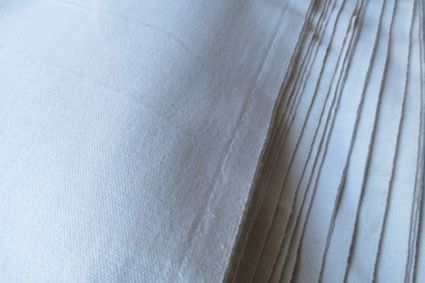 WHITE COTTON CANVAS FABRIC BY THE YARD-UF9
