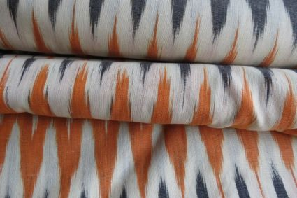 TRICOLOR IKAT FABRIC BY THE YARD-HF807