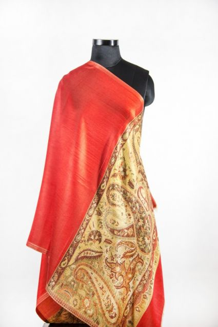 REVERSIBLE RED FALL SCARVES FROM INDIA SUPPLIER