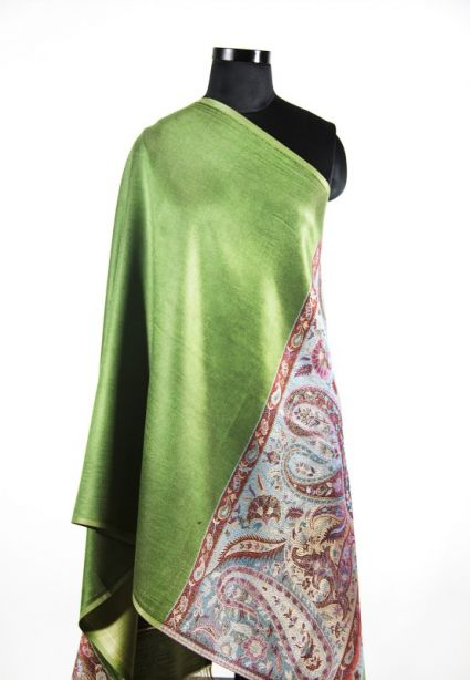 REVERSIBLE GREEN FALL SCARVES FROM INDIA SUPPLIER