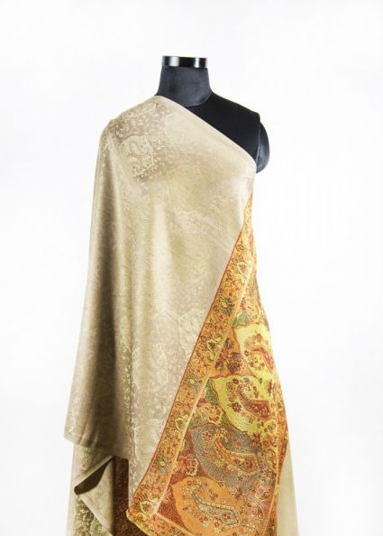 BROWN PAISLEY FASHION SCARVES FOR WOMEN IN INDIA