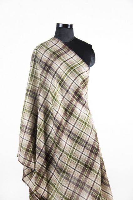BROWN GREEN CASHMERE SCARF MEN INDIA