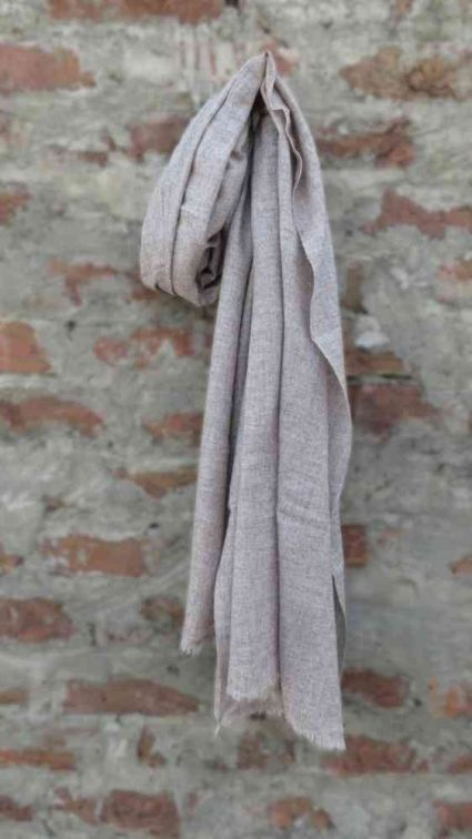JUST BROWN CASHMERE WOOL SCARF FOR WOMEN