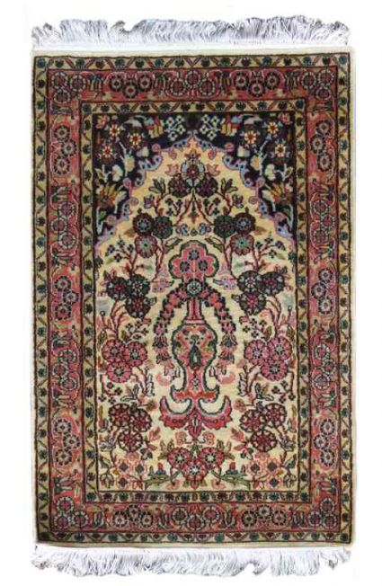 KASHMIR PURE SILK INDIAN RUG FROM INDIA