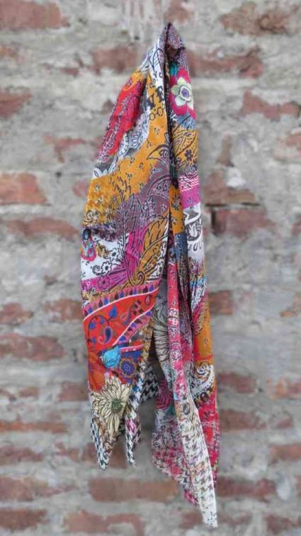 MULTICOLOR FLORAL FASHION SCARVES FOR WOMEN INDIA