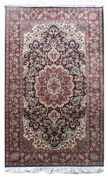 PERSIAN DESIGN BLUE WOOLEN RUG FROM INDIA