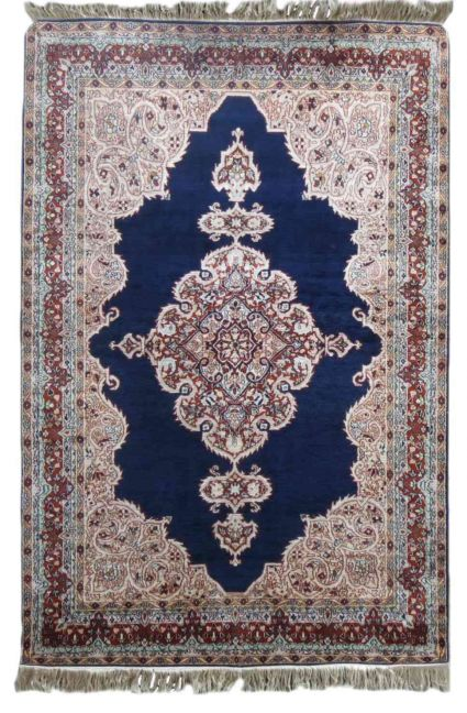 PURE SILK BLUE HANDMADE RUGS FROM INDIA SUPPLIER